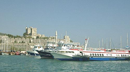 the Bodrum ferries waiting for you