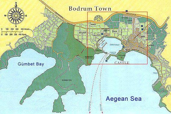 Bodrum Karte.Stadtplan Von Bodrum Mit Extra Karte Stadtzentrum